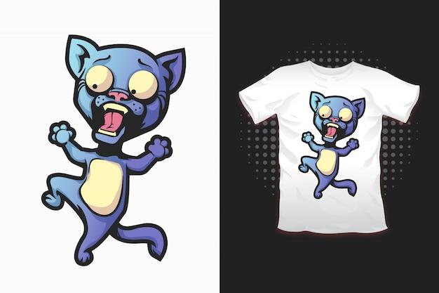 Tシャツデザインの猫柄 Premiumベクター