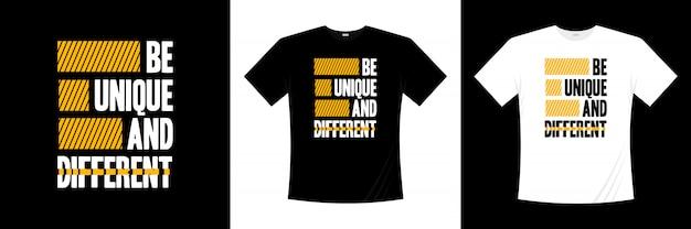 ユニークで異なるタイポグラフィtシャツのデザイン Premiumベクター