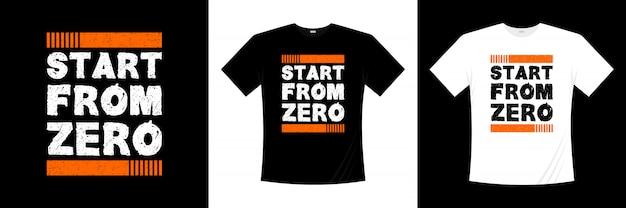 ゼロタイポグラフィのtシャツデザインからスタート Premiumベクター