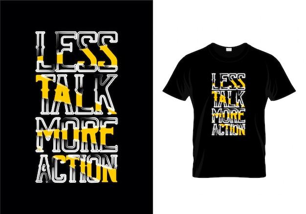 トークその他の操作タイポグラフィーtシャツデザイン Premiumベクター