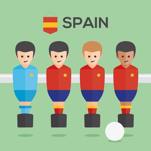Table football spain players Free Vector