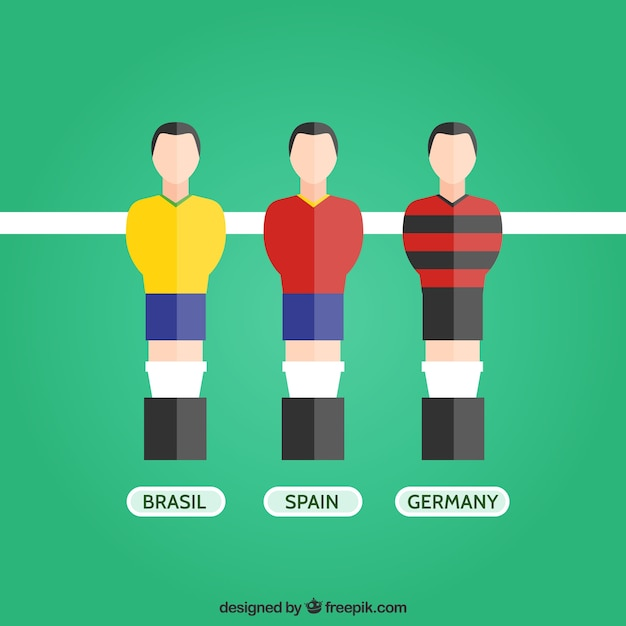 Table soccer players Free Vector
