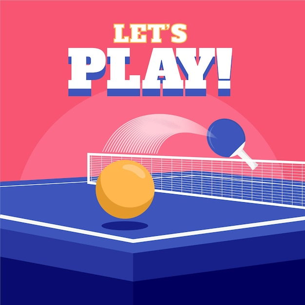 Table tennis concept illustrated Free Vector