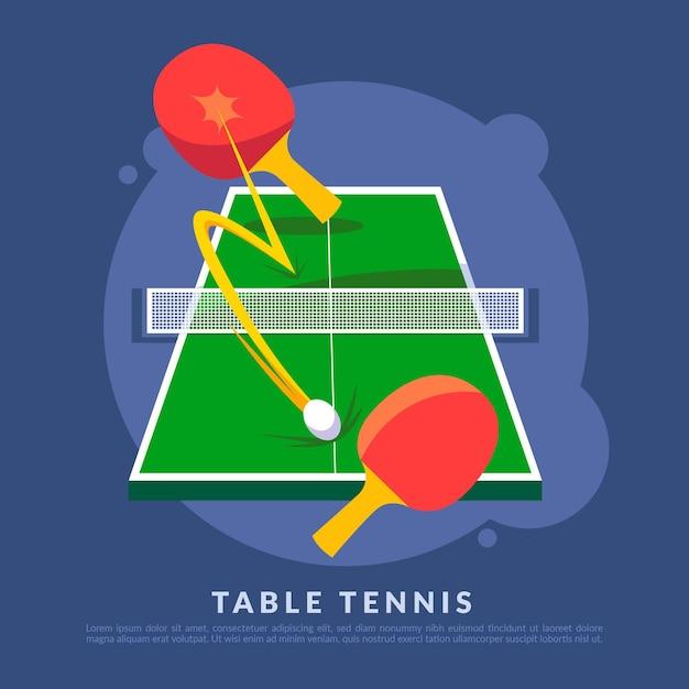 卓球の概念図 無料ベクター