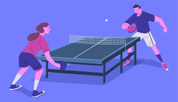 Table tennis concept Free Vector