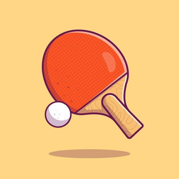 Table tennis  icon . racket ball and ping pong, sport icon  isolated Premium Vector