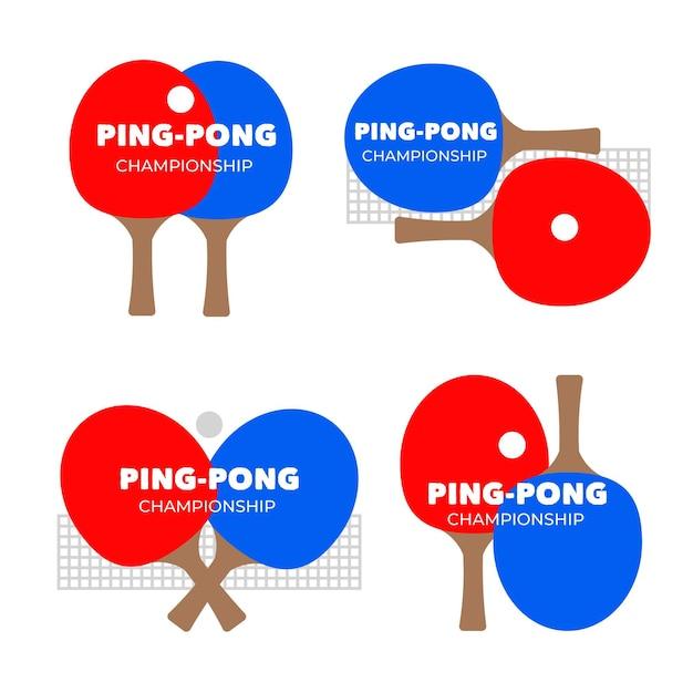 Table tennis logo collection Free Vector