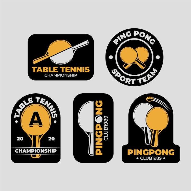 卓球ロゴ集 無料ベクター