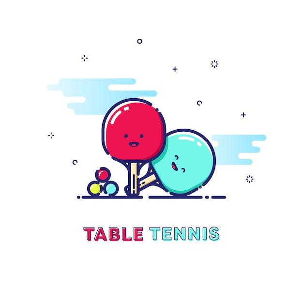 Table tennis sport illustration Premium Vector
