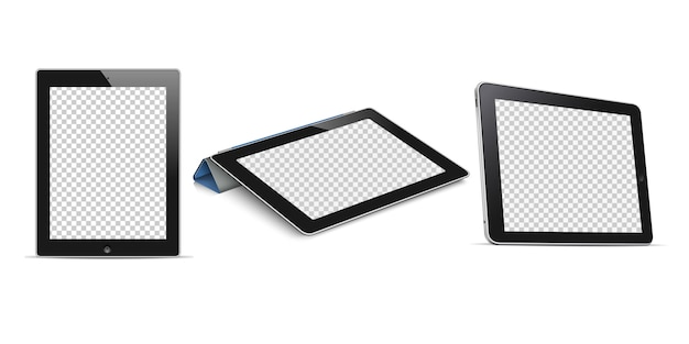 Tablet computer with transparent screen Premium Vector