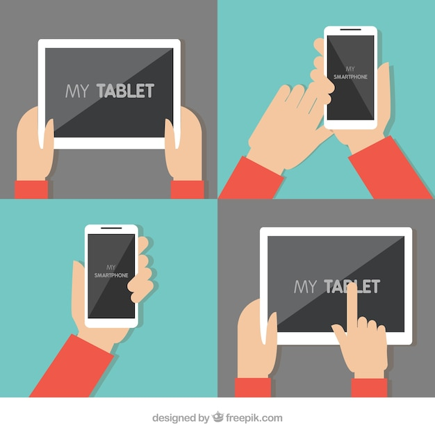 Tablet and mobile phone Free Vector