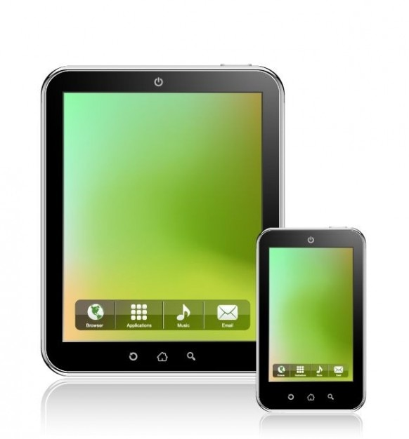 tablet pc vector Free Vector