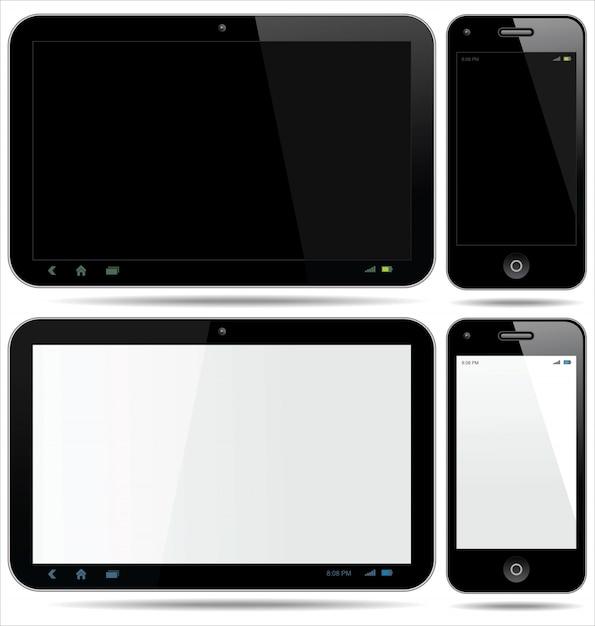 Tablet smartphone Premium Vector