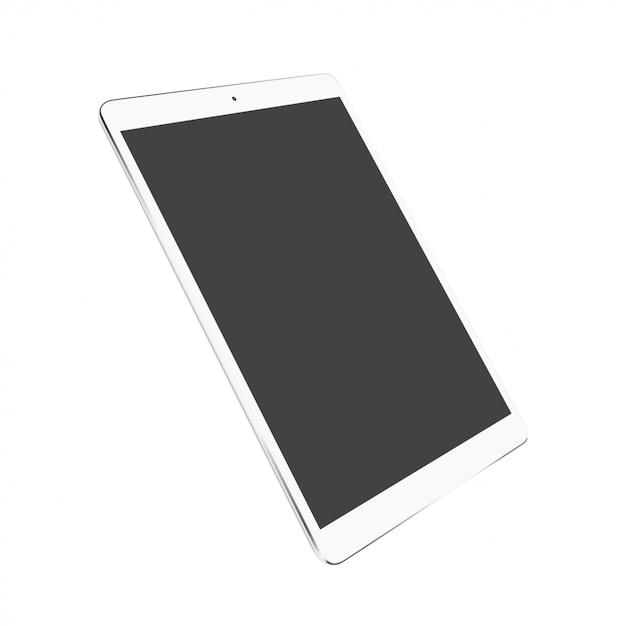 Tablet wiith blank screen Premium Vector