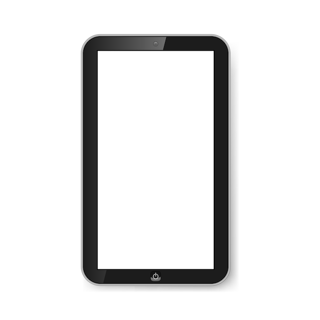 Tablet with blank screen. Premium Vector