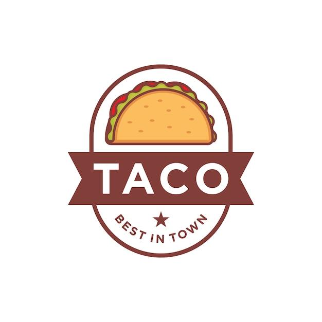 Taco logo design Premium Vector