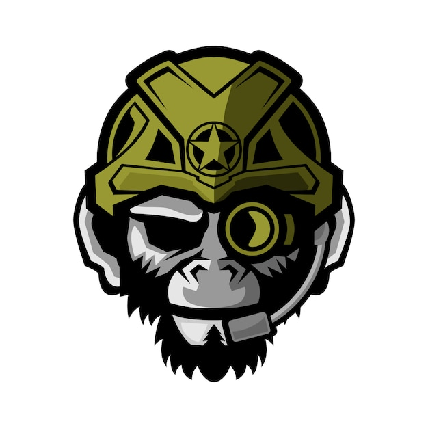 Tactical monkey vector illustration Premium Vector