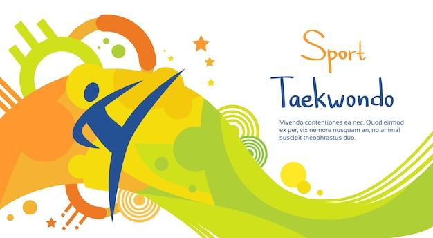 Taekwondo athlete sport game competition Premium Vector