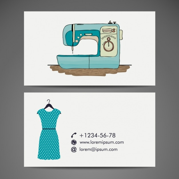 Tailor business card design Vector | Free Download