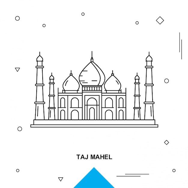 Taj mahel Бесплатные векторы