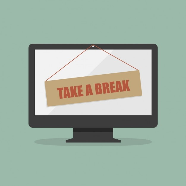 Take a break design Free Vector