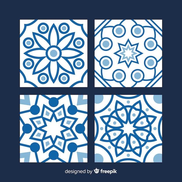 Talavera collection of tiles Free Vector