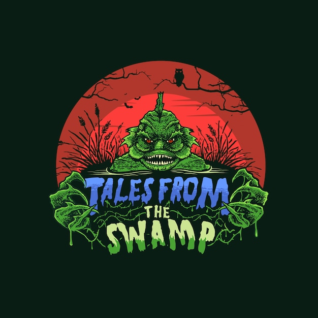 Tales from the swamp Premium Vector