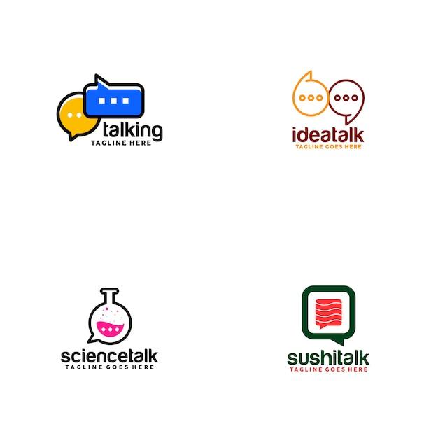 Talk logo Premium Vector