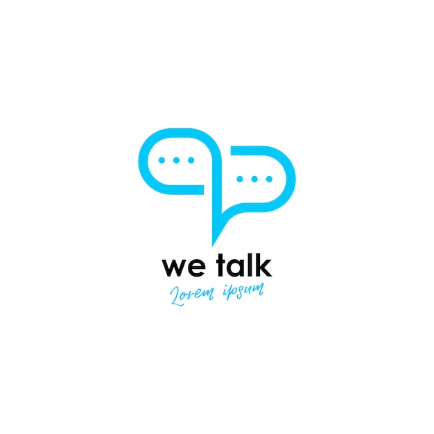 Talk logo Premium Vector