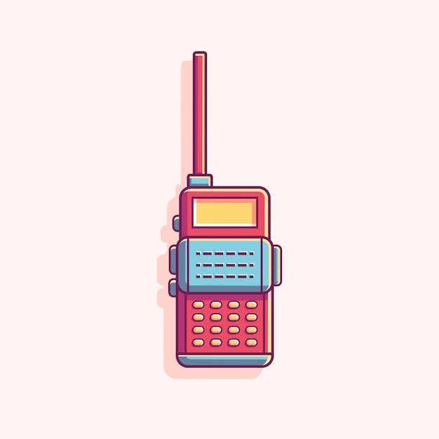 Talkie walkie flat vector illustration Premium Vector