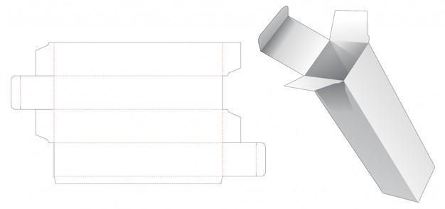 トールパッケージボックスダイカットテンプレート Premiumベクター