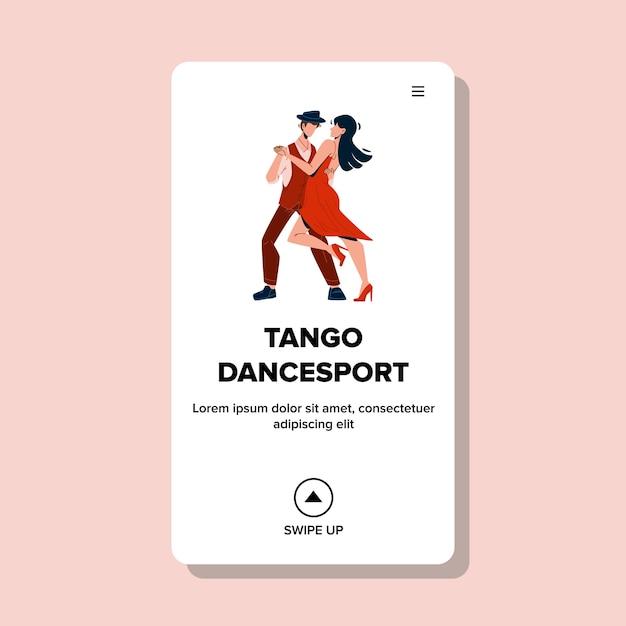Спортивные соревнования по танго и спортивным танцам Premium векторы