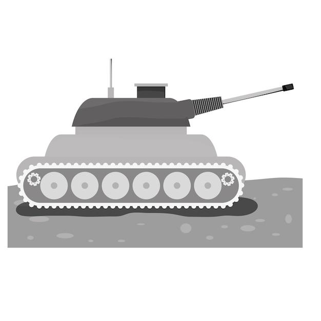 Tank car for navy contour icon Premium Vector