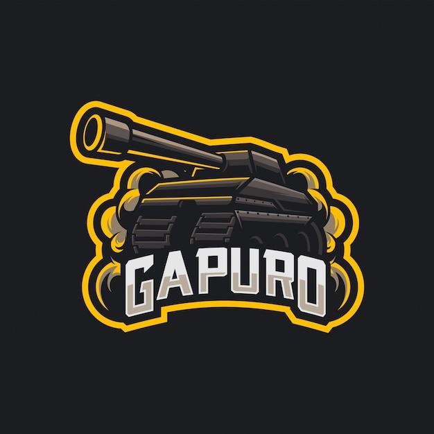 タンクeスポーツのロゴ Premiumベクター