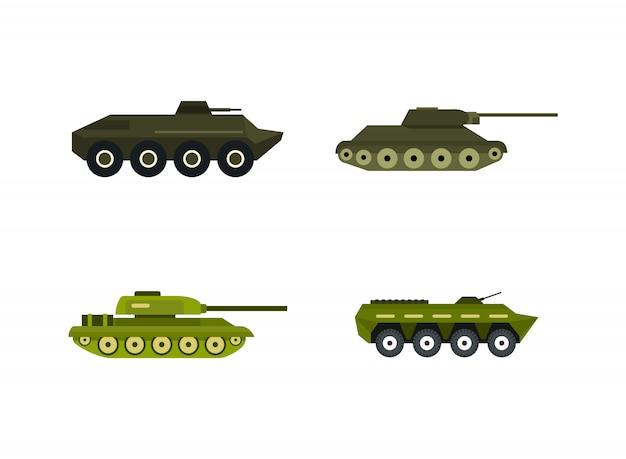 premium vector tank icon set flat set of tank vector icons collection isolated https www freepik com profile preagreement getstarted 4667888