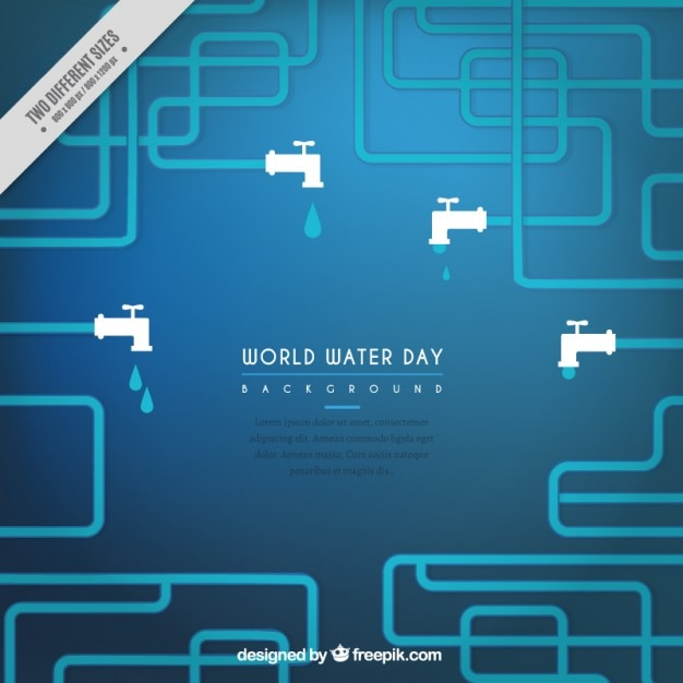 Taps blue background Free Vector