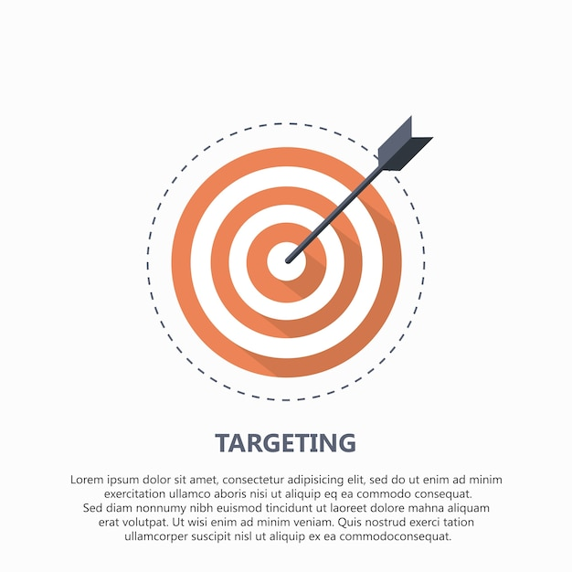 Target icon for business or sport Free Vector