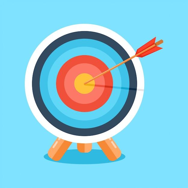 Target with arrow. vector illustration Premium Vector