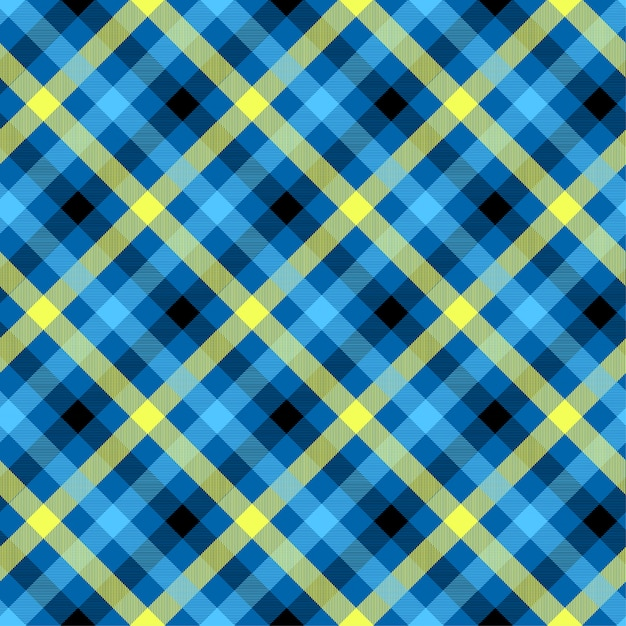 Tartan blue color seamless vector pattern Premium Vector