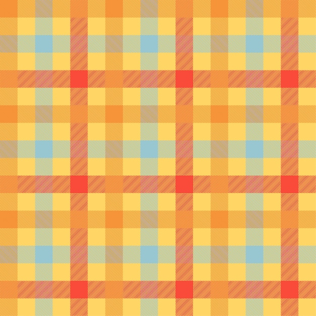 Tartan orange color seamless vector pattern Premium Vector