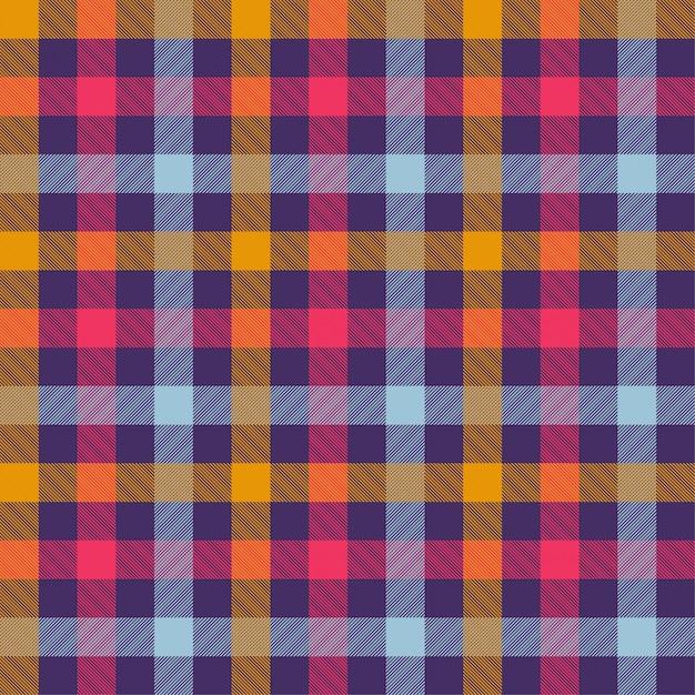 Tartan orange color seamless vector pattern Premium Vector