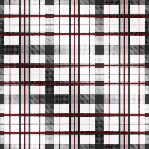 Tartan pattern seamless fabric background with red and gray tones. checkered texture plaid Premium Vector