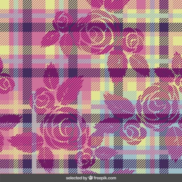 Fantasia scozzese con i fiori Vettore gratuito