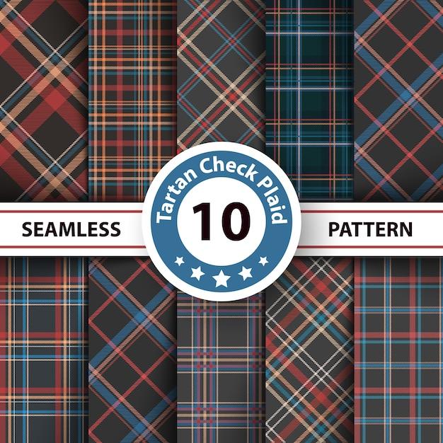 Tartan seamless pattern Premium Vector