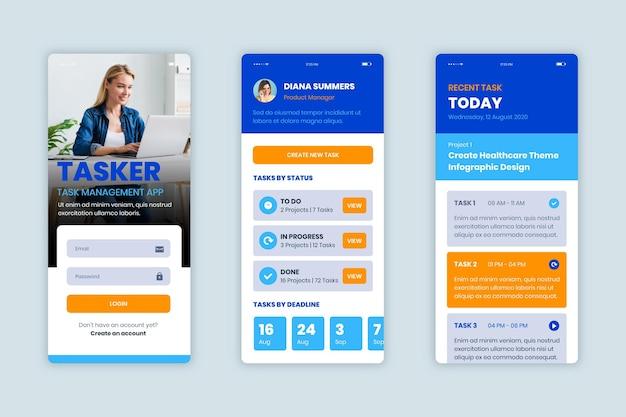 Modello di raccolta di app per la gestione delle attività Vettore gratuito