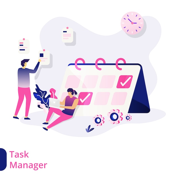 Task manager illustration Premium Vector