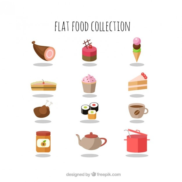 Tasty flat food collection