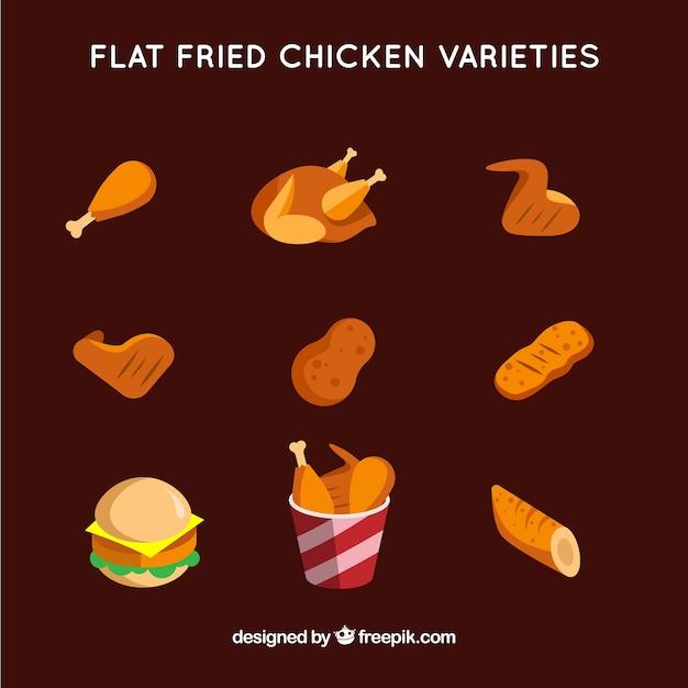 Pacchetto di pollo fritto gustoso Vettore gratuito