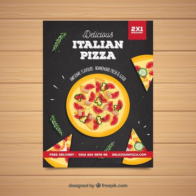 Tasty italian pizza poster