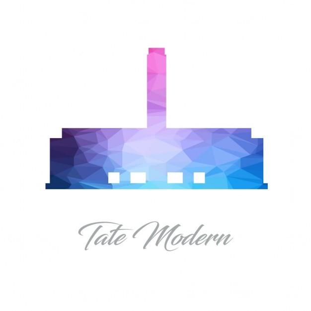 Tate modern, polygonal shapes